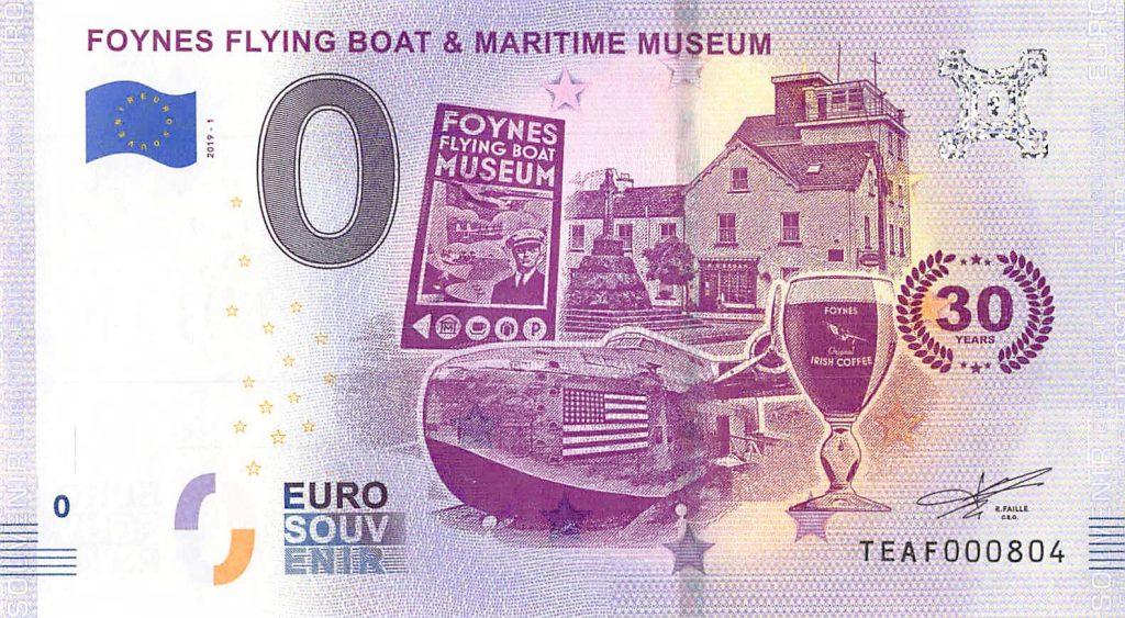 Foynes Flying Boat Museum Commemorative 0 Euro Banknote