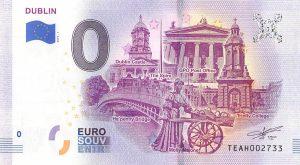 Dublin Commemorative 0 Euro Banknote