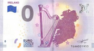 Ireland (Harp) Commemorative 0 Euro Banknote