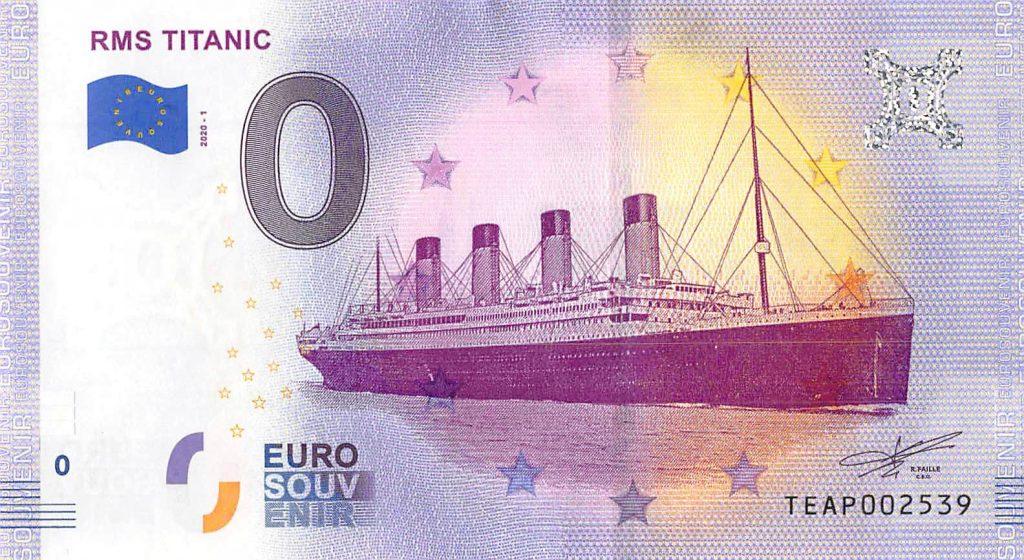 RMS Titanic Commemorative 0 Euro Banknote