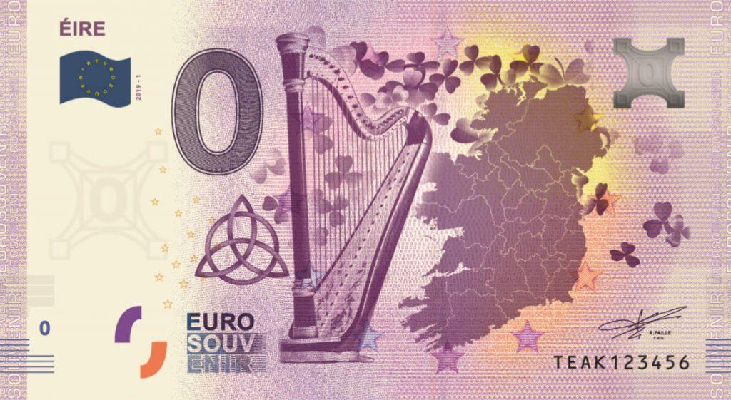 Eire Commemorative 0 Euro Banknote
