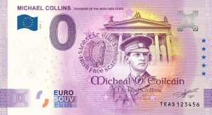Michael Collins Commemorative 0 Euro Banknote